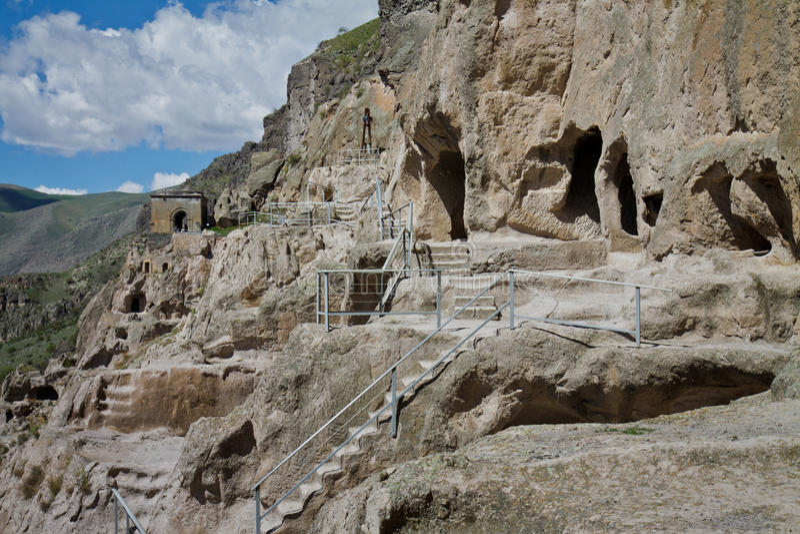 Monastero della caverna di Vardzia, Georgia immagini stock