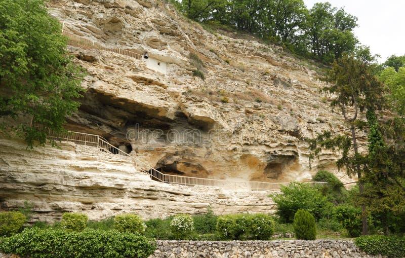 Monastero della roccia di Aladzha fotografie stock libere da diritti