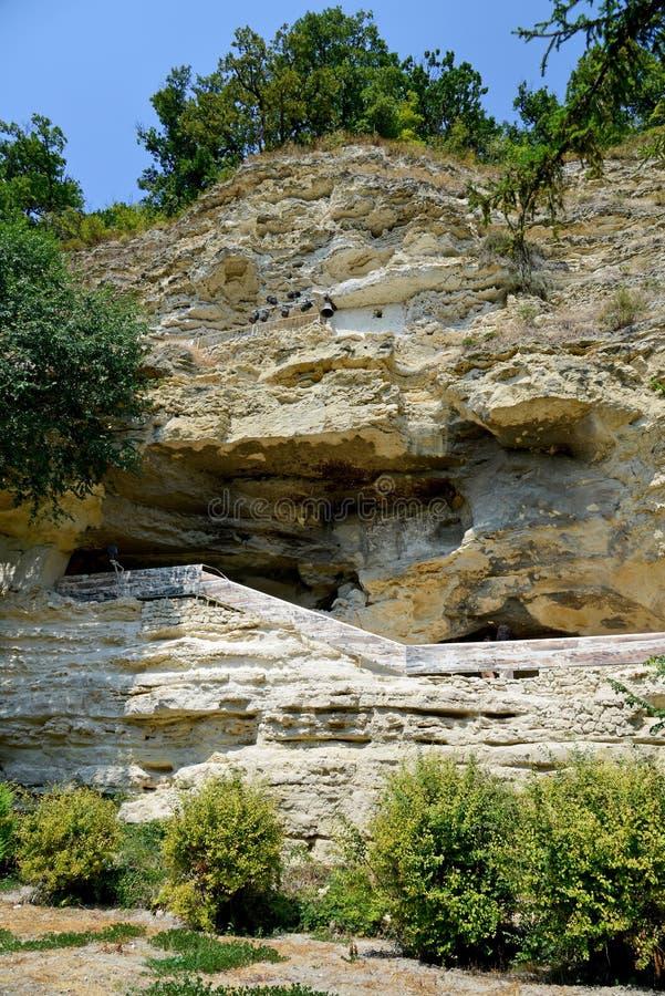 Monastero della roccia di Aladzha fotografie stock