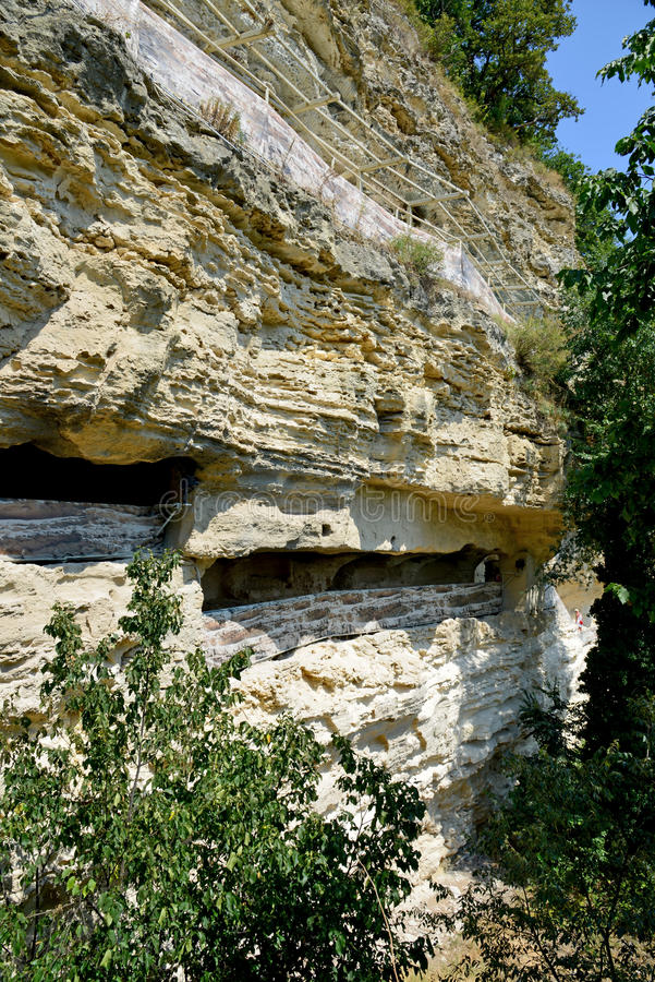Monastero della roccia di Aladzha, Bulgaria fotografia stock libera da diritti
