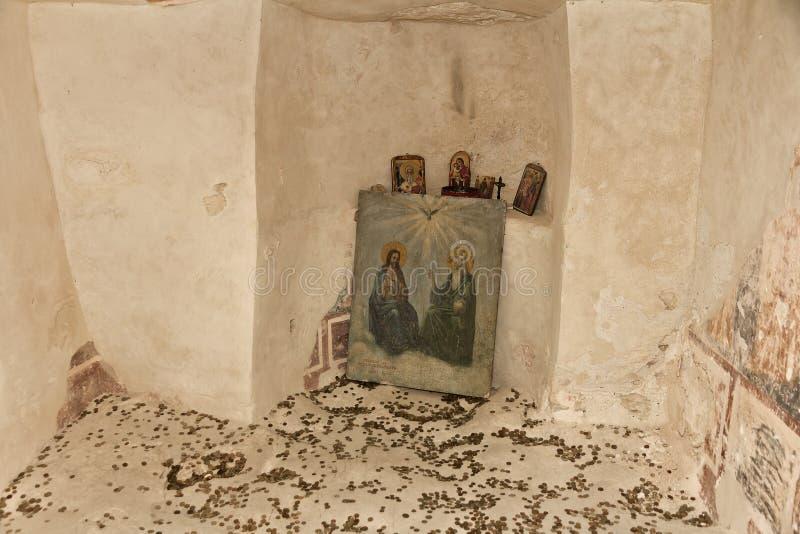 Monastero della roccia di Aladzha, Bulgaria immagini stock libere da diritti