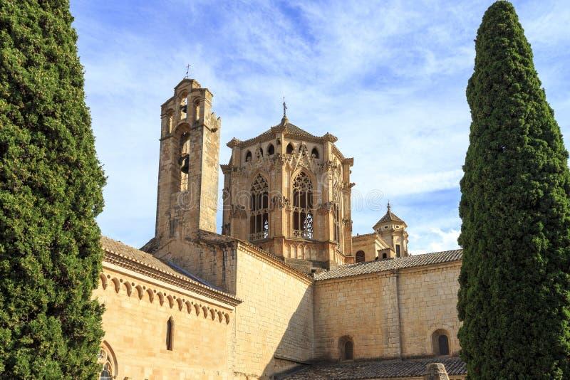 Monastero della Spagna Poblet, in Catalogna fotografia stock