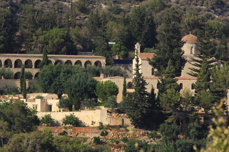 Monastero della st Neofitas Pafo cyprus fotografia stock libera da diritti