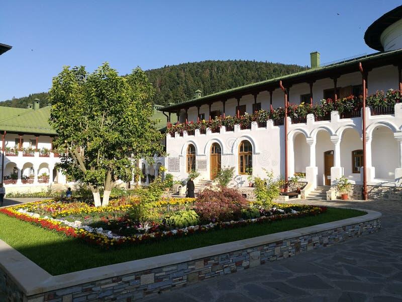 Monastero di Agapia, Romania fotografie stock