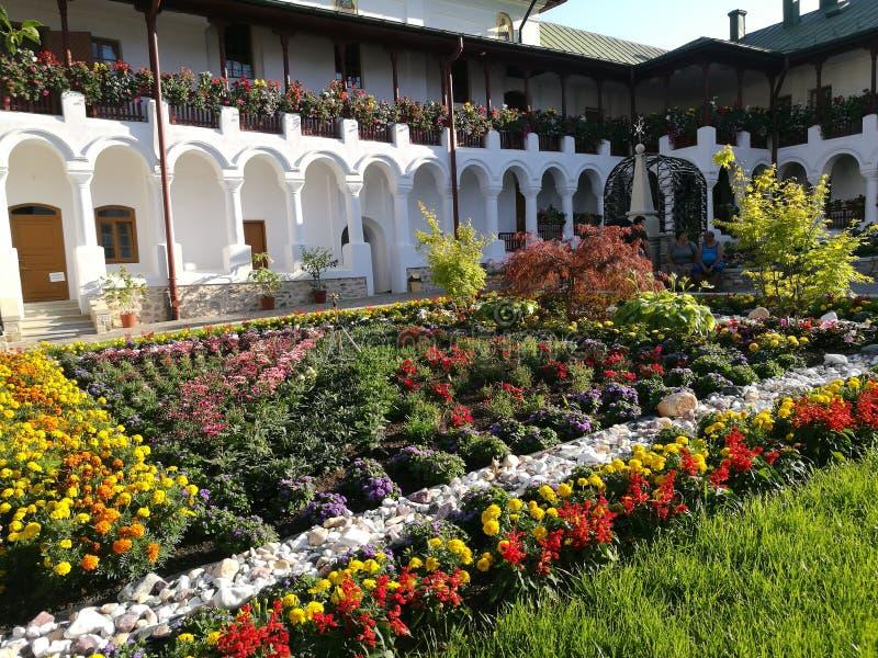 Monastero di Agapia, Romania fotografia stock libera da diritti