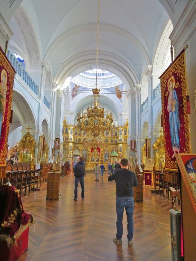 Monastero di Agios Panteleimon Russian in montagna santa Athos in Grecia immagine stock