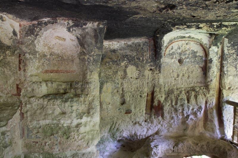 Monastero di Aladzha - complesso ortodosso del monastero della caverna del cristiano bulgaria immagine stock libera da diritti