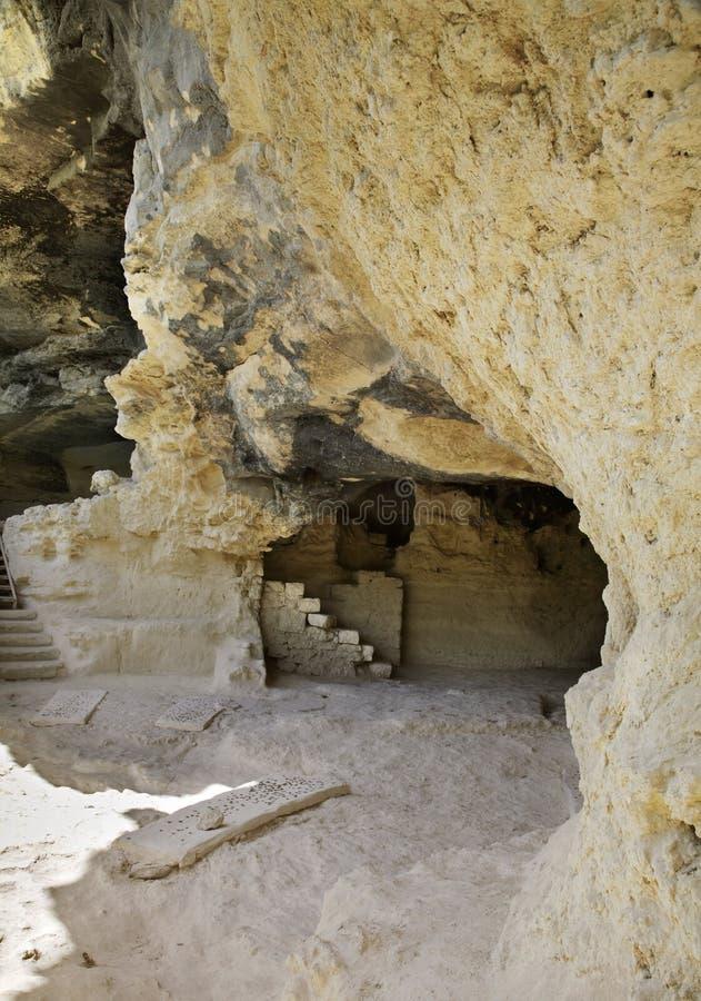 Monastero di Aladzha - complesso ortodosso del monastero della caverna del cristiano bulgaria immagine stock