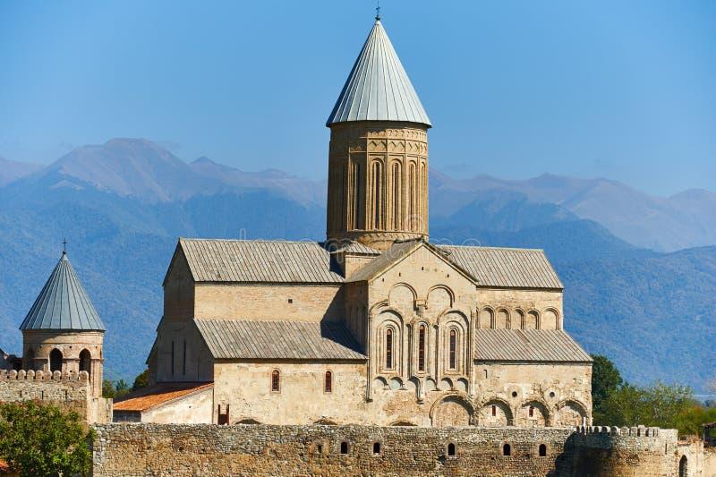 Monastero di Alaverdi in Georgia fotografia stock libera da diritti