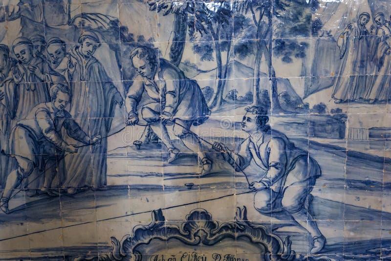 Monastero di Alcobaca, Alcobaca, Portogallo fotografia stock libera da diritti