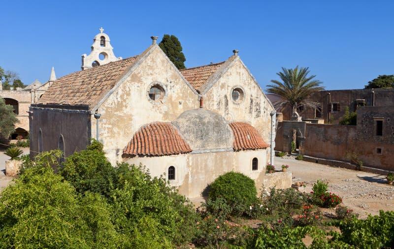 Monastero di Arkadi all'isola del Crete, Grecia fotografia stock