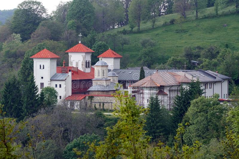Monastero di Arnota in Romania fotografia stock