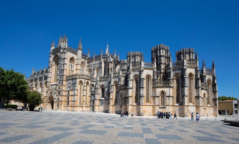 Monastero di Batalha nel Portogallo Il monastero di Batalha è un convento domenicano nella parrocchia civile di Batalha nel Porto immagini stock libere da diritti
