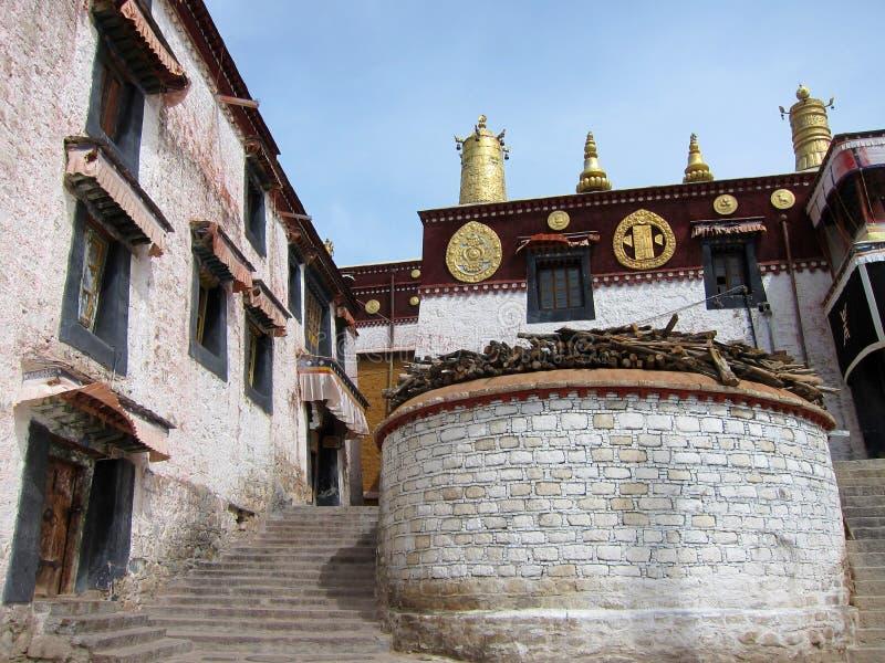 Monastero di Drepung nel Tibet fotografia stock libera da diritti