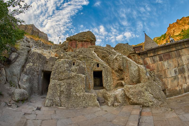 Monastero di Geghard dell'Armenia immagini stock