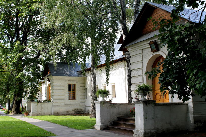 Monastero di Novodevichy delle cellule a Mosca fotografia stock