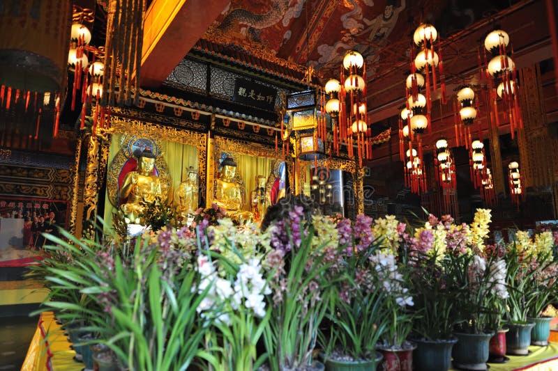 Monastero di Po Lin fotografia stock libera da diritti