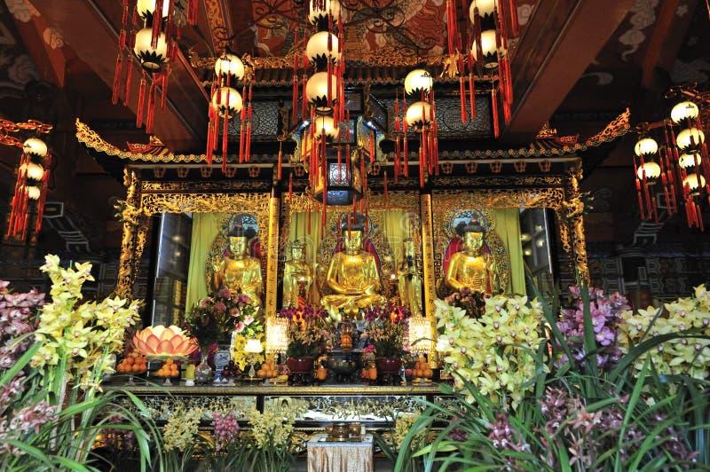 Monastero di Po Lin fotografie stock