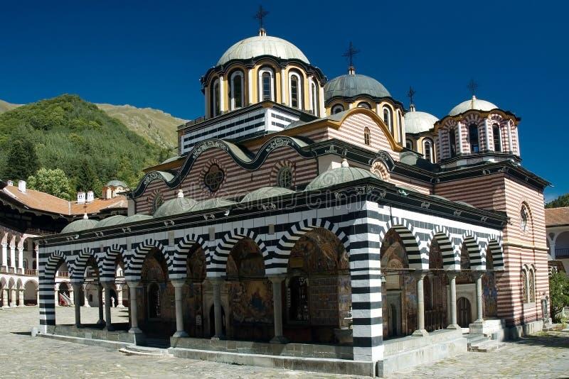 Monastero di Rila fotografie stock libere da diritti