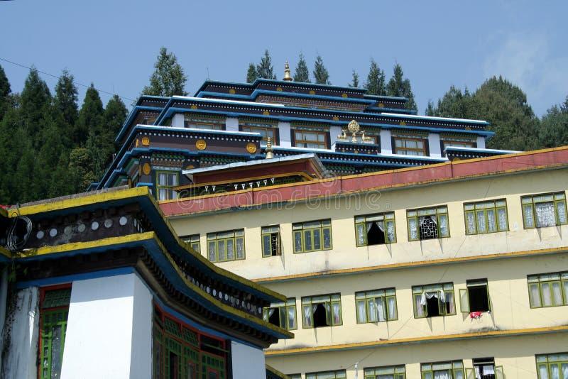 Monastero di Rumtek fotografie stock
