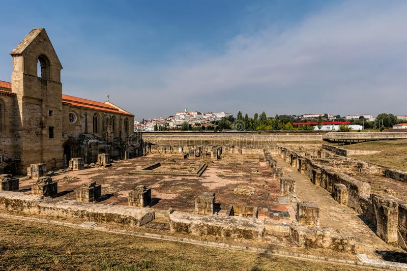 Monastero di Santa Clara-un-Velha immagine stock