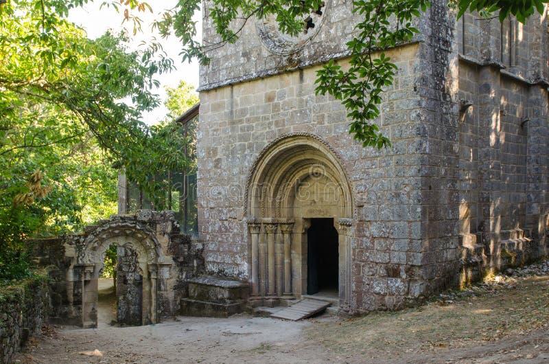 Monastero di Santa Cristina de Ribas de Sil La Galizia immagine stock