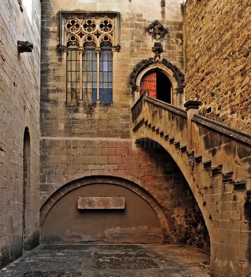 Monastero di Santa Maria de Poblet, Spagna immagine stock libera da diritti