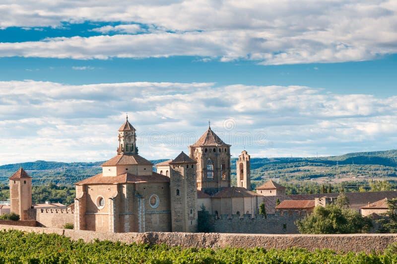Monastero di Santa Maria de Poblet, Spagna fotografia stock
