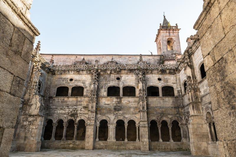 Monastero di Santo Estevo de Ribas de Sil: una giornata tranquilla immagine stock libera da diritti