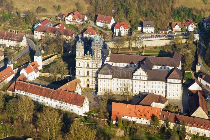 Monastero di Schoental - Hohenlohe fotografia stock libera da diritti