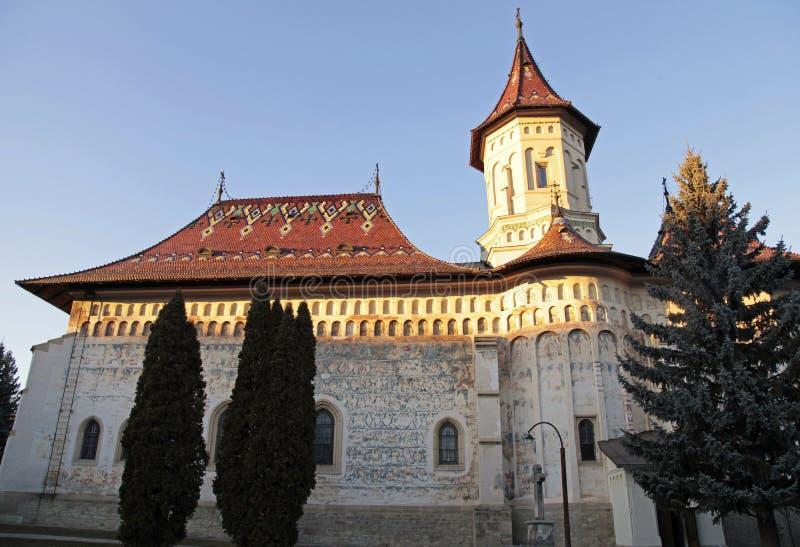 Monastero di St John il nuovo, Suceava, Romania immagini stock libere da diritti