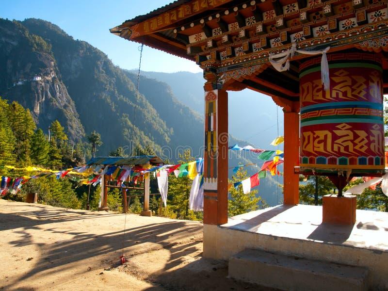 Monastero di Taktshang in Paro (Bhutan) immagine stock