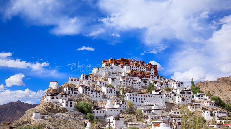 Monastero di Thiksey, Leh Ladakh, il Jammu e Kashmir, India fotografia stock