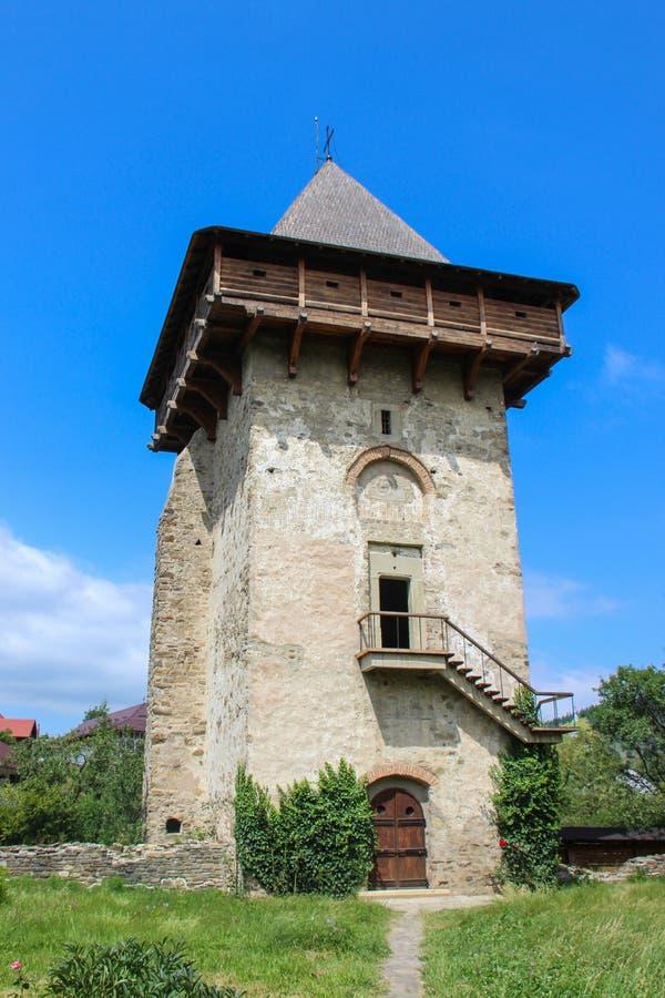 Monastero di umore - la torre fotografie stock