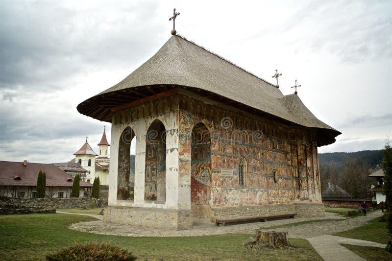 Monastero di umore, Romania immagini stock