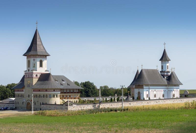 Monastero di Zosin in Moldavia, nord-est della Romania fotografie stock