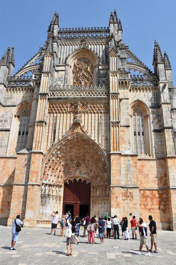 Monastero domenicano di Santa Maria da Vitoria nel Portogallo immagine stock