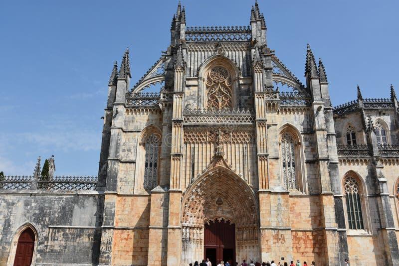 Monastero domenicano di Santa Maria da Vitoria nel Portogallo fotografie stock