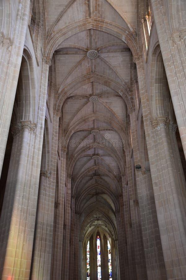 Monastero domenicano di Santa Maria da Vitoria nel Portogallo fotografie stock libere da diritti