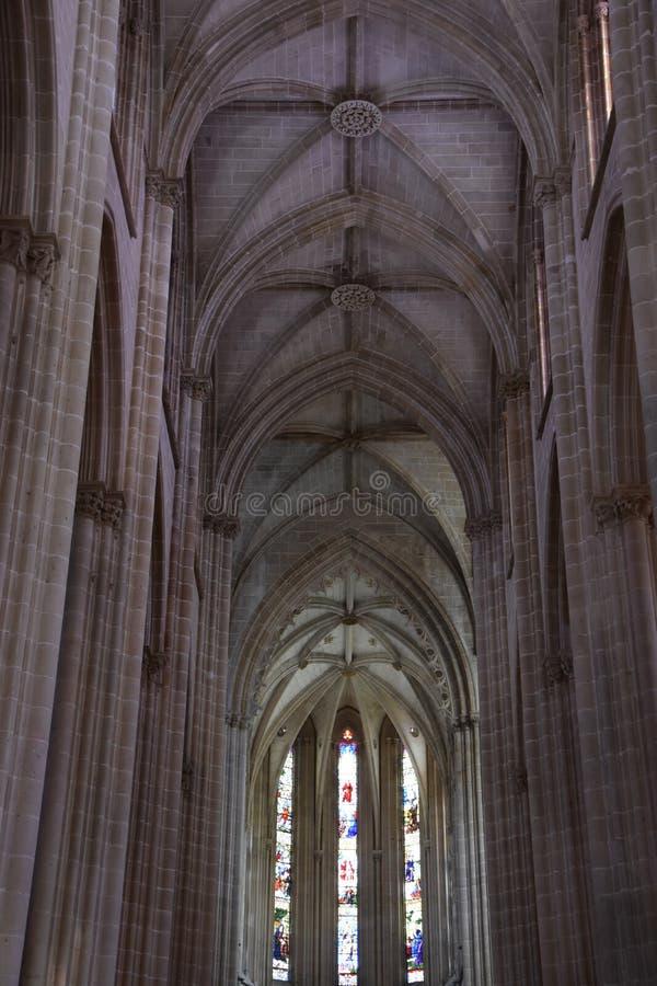 Monastero domenicano di Santa Maria da Vitoria nel Portogallo immagini stock libere da diritti