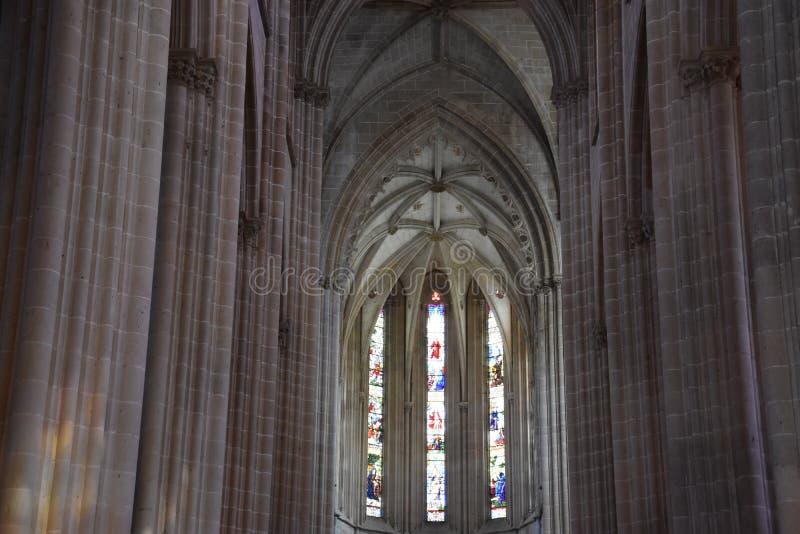 Monastero domenicano di Santa Maria da Vitoria nel Portogallo fotografia stock