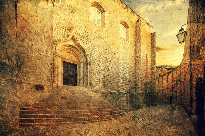 Monastero domenicano dubrovnik fotografia stock