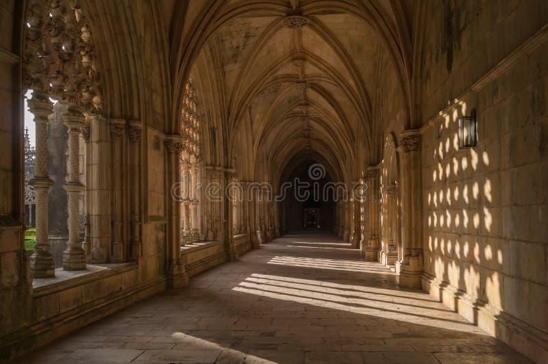 Monastero domenicano medievale gotico di Batalha, Portogallo fotografia stock