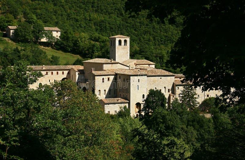 Monastero Fonte Avellana in Italia fotografia stock libera da diritti