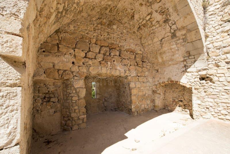 Monastero fortificato Honorat del san, Francia fotografia stock