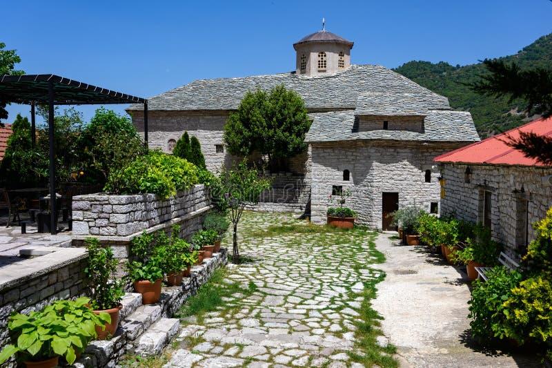Monastero in Grecia fotografie stock libere da diritti