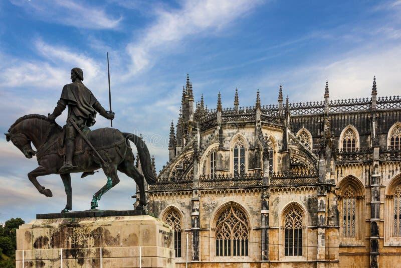 Monastero medievale domenicano di Batalha, Portogallo fotografia stock