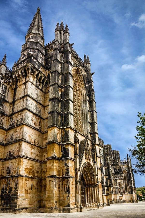 Monastero medievale domenicano di Batalha, Portogallo - grande masterpie immagine stock