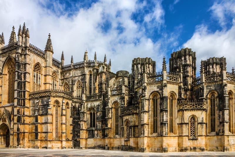 Monastero medievale domenicano di Batalha, Portogallo - grande masterpie fotografia stock