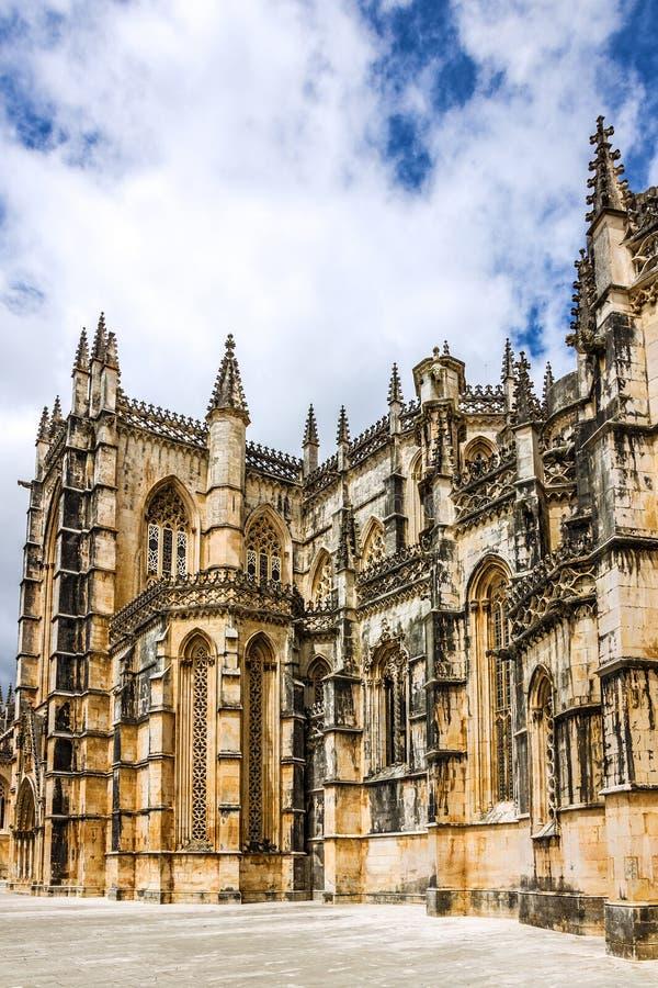 Monastero medievale domenicano di Batalha, Portogallo - grande masterpie immagini stock libere da diritti